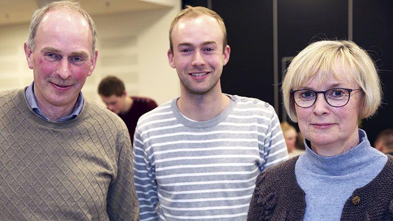 Niels Morten Østergaard Nielsen, Jytte Nielsen og sønnen Christian Østergaard Nielsen.