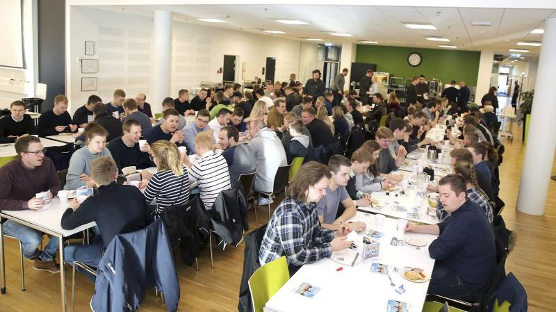 Omkring 200 unge deltog i arrangementet hos Sagro i Billund.