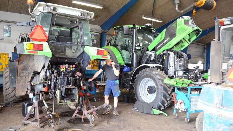 Deutz-Fahr fylder godt op i værkstederne i Brørup og Ølgod, og det er folkene bag maskincenteret sikre på også vil fortsætte fremover.