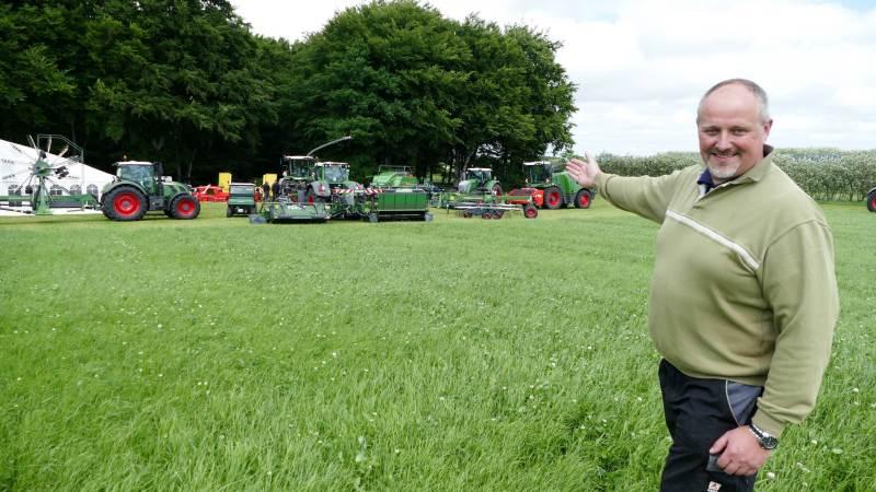 AGCO-salgscheferne Peter Midtiby og Jørgen Sørensen med ansvar for henholdsvis Fendt og Massey Ferguson ser begge konsolideringen af de to traktormærkers forhandlerstruktur som en fremtidssikring i det jyske område. Arkivfoto