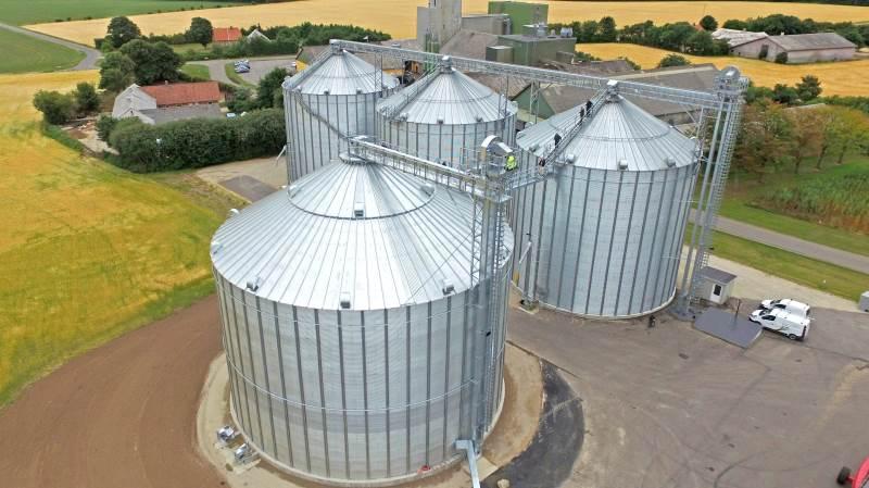 Vejrup Andels Grovvareforening er blevet færdig med byggeriet af endnu en silo.