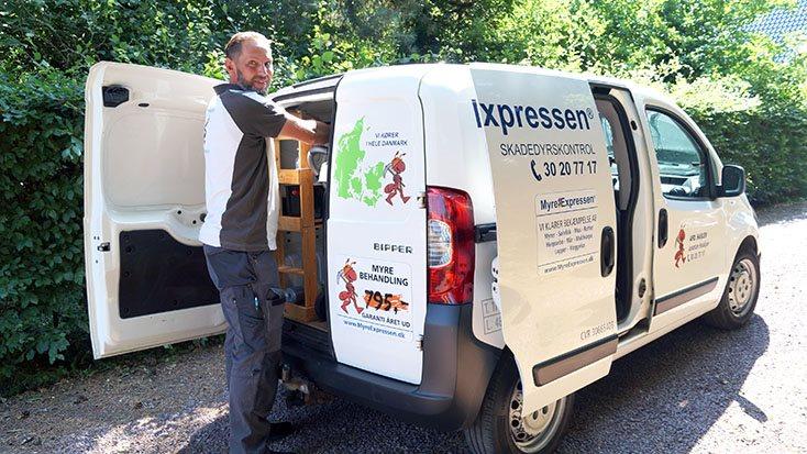 Jonatan Malte Houkjær, og hans kollegaer i MyreExpressen, landsdækkende skadedyrskontrol med afdelinger i 15 danske byer, er klar til at rykke ud, hvis der er problemer med skadedyr.