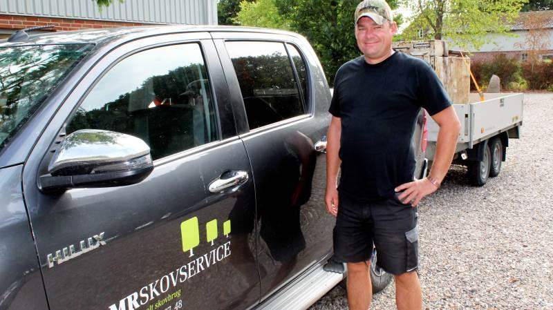 Martin Riggelsen tog i 2002 springet og blev selvstændig med MR Skovservice ApS, der i dag er en skoventreprenørvirksomhed med 14 ansatte. Foto: John Ankersen