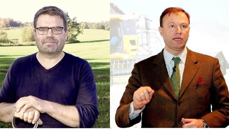 Torben Povlsen (tv) og Frederik Lüttichau stiller op til viceformandsvalget i Landbrug & Fødevarer 8. november.