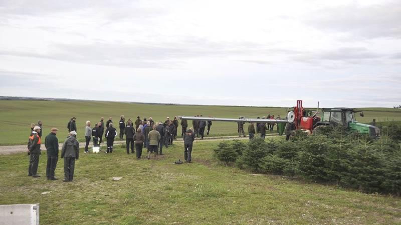 Samlet har knapt 200 juletræsproducenter deltaget i LMO's sprøjtedemonstrationer. Foto: LMO
