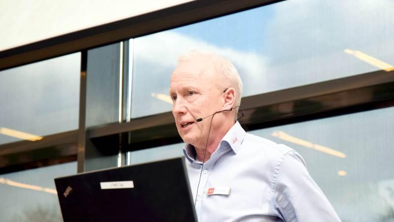 Driftsøkonom Finn Skotte fra VKST slår et slag for dialog.