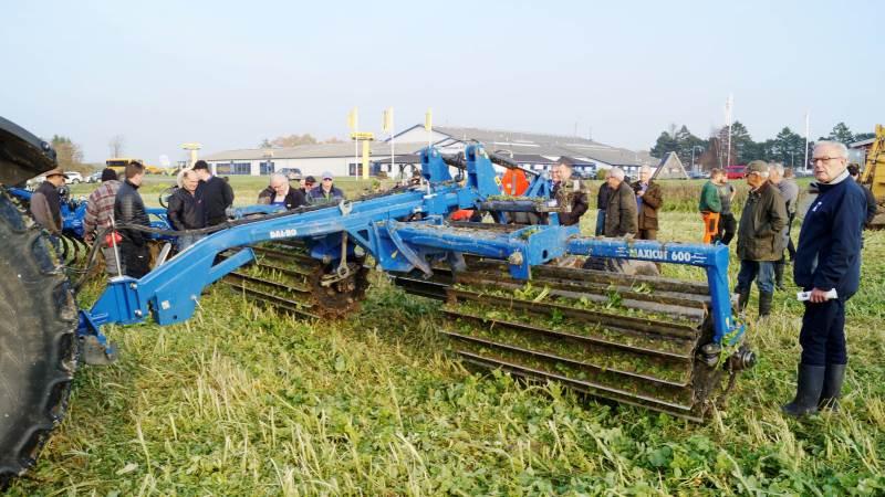 Ved Østdansk Landboforenings demonstration af destruktion af efterafgrøder var det ifølge planteavlskonsulent Thomas Laugesen første gang, at Dalbos Maxicut blev vist i Østdanmark.