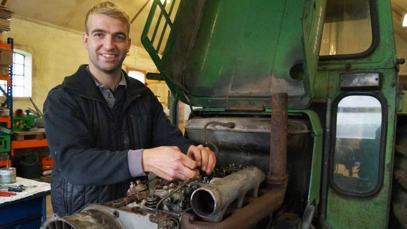 Wilmer Kloppenburg har for blot et par måneder siden etableret sig som selvstændig landbrugsmaskinmekaniker.