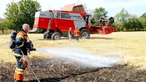 I det meget tørre klima er risikoen for markbrande voldsom stor. Arkivfoto: LLN Press.