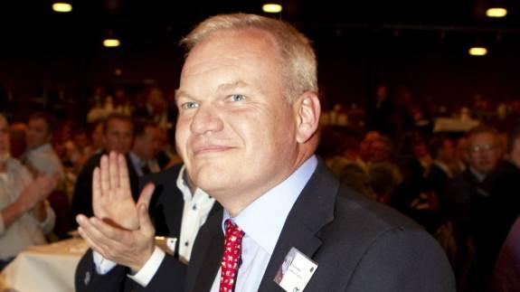 Lars Hvidtfeldt havde det store smil fremme, da han i november 2012 vandt et kampvalg om at blive viceformand i Landbrug & Fødevarer.