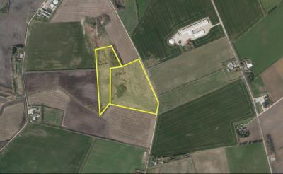 Frijord og landbrugsjord mellem Tinghøj og Orten
